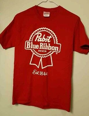 PABST BLUE RIBBON PBR Beer T-Shirt RED Classic Retro Rockabilly SMALL