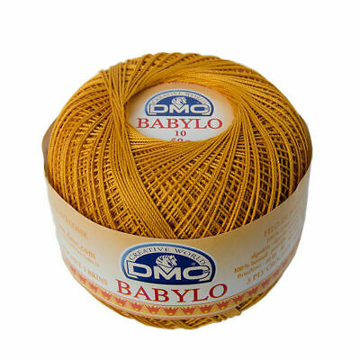 DMC Babylo 10 Crochet Cotton, 50g Ball, Colour 783 Medium Topaz