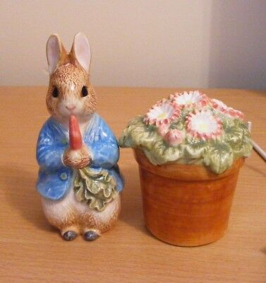 F.w.& Co Beatrix Potter  Peter Rabbit Salt And Pepper Pot C1996