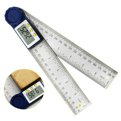 2 IN 1 digital angle ruler Guage 360 degree 200mm electronic meter Protractor