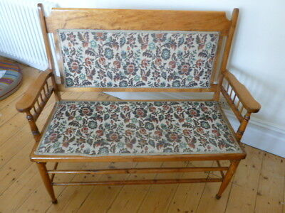 Arts and Crafts two seater chair, settle