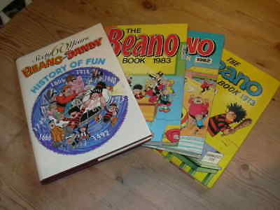 Job Lot Of  Four Vintage Beano / Dandy Annuals