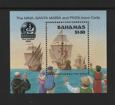 BAHAMAS 1990 500th ANNIV OF DISCOVERY OF AMERICA (3rd) MIN SHEET *VF MNH*