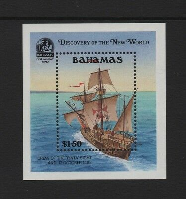 BAHAMAS 1991 500th ANNIV OF DISCOVERY OF AMERICA (4th) MIN SHEET *VF MNH*