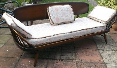 Vintage ERCOL Mid Century Modern Studio Couch-  Day Bed - Sofa-Original Cushions