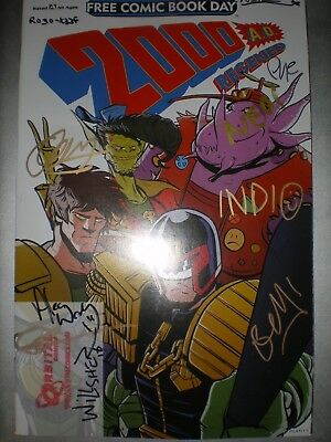 2000ad Regened 2018 FCBD issue signed by 10 creators