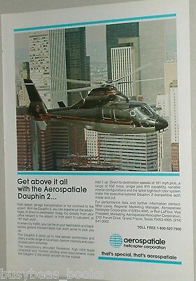 1987 Aerospatiale Helicopter ad, Dauphin 2, business