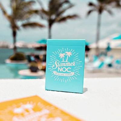 Summer NOC Playing Cards Limited Edition Beach Blue Marked Deck