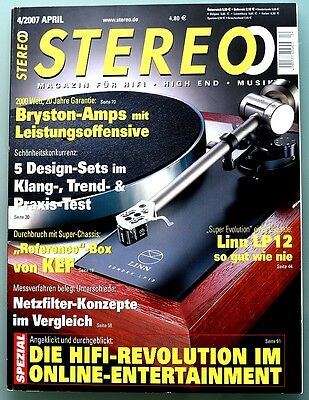 STEREO 4/2007 April 2007 Hifi Zeitschrift 04/07, 4 2007 STEREO 04/2007