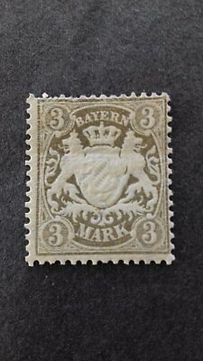 STAMPS - Bavaria - 3 Marks Coat of Arms Unused