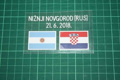 CROATIA World Cup 2018 Away Shirt Match Details ARGENTINA Vs CROATIA