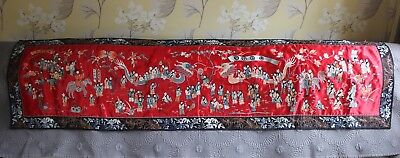 Lovely Early 20th Century Chinese Embroidered Silk 100 Boys Banner