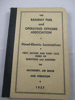 1957 Machinery , Air Brake and Operation Q & A  Test Questions  Manual Train