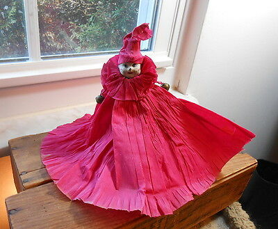 Vintage Crepe Paper and Papier-mache Doll For Tree Top