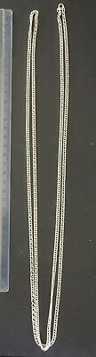 Vintage Silver double link fob chain weight 47gms length 150cms