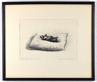 """Original Marguerite Kirmse Etching, """"Age of Innocence"""" 1929 Pencil-Signed"""