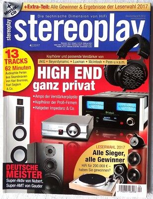 STEREOPLAY 4/2017 April 2017 Hifi Zeitschrift 04/17 04 2017 stereoplay 4 17