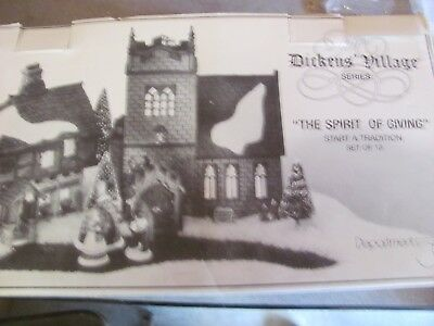 Dept 56 Dickens' Village THE SPIRIT OF GIVING Start a Tradition 13 Pc NEW