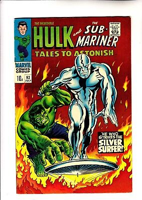Tales to Astonish 93 Hulk vs Silver Surfer 1st ever meeting