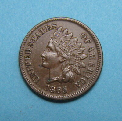 1865 Indian Head Penny Cent ✪ Full Liberty ✪ A0722