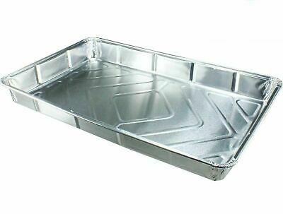 """Foil Baking Trays Large Tray Bake Containers Aluminium Disposable 12"""" x 8"""" Grill"""