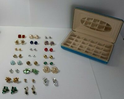 Large Lot of Pierced and Clip On Earrings - Vintage Beautiful Costume Jewelry