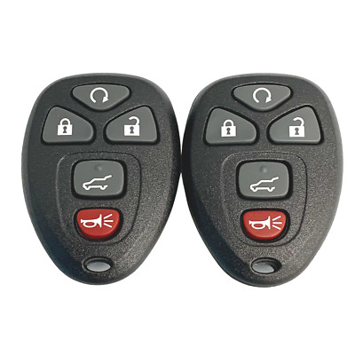 2 New Replacement Keyless Remote Key Fobs 5 Button OUC60270 OUC60221 15913415