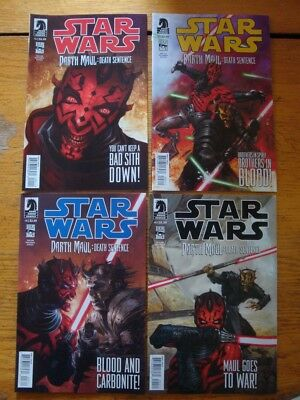 DARTH MAUL Death Sentence ~ Comic Full Set # 1 2 3 4  NM/UNREAD Dark Horse 2012