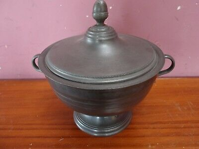 Large French Heavy Duty Pewter Urn Shaped Tureen With Lid