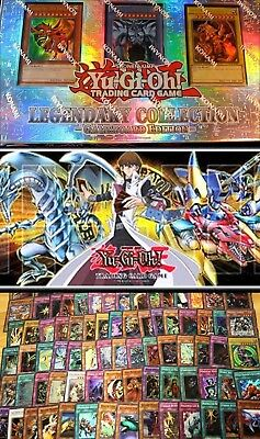 500 Mixed New COMMONS +legendary collection 1 Box YuGiOh + Blue-Eyes Dragon MAt