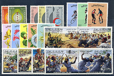 Libya Libye Libia 1962-82 23 Different Stamps Mhn **