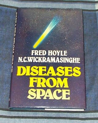 Diseases From Space Fred Hoyle Chandra Wickramasinghe H/B Pandemics - SIGNED