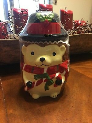 Hedgehog Christmas Cookie Jar Hedgehog Collection by Sleigh Bell Bistro New