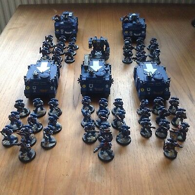 Warhammer 40K Space Marines Ultramarines - 2. Demi-Company -painted Modelle- TOP