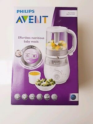 Philips Avent 4-In-1 Combined Steamer And Blender Healthy Baby Food Maker