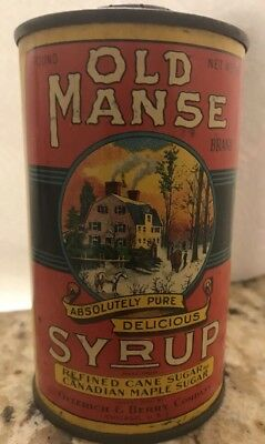 Old Manse Brand Syrup Can - Oelerich & Berry Co. - Syrup Tin