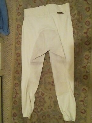 Pytchley white full-seat 32 dressage show breeches