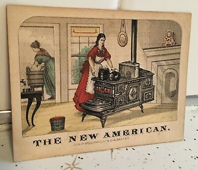 1873 - The New American Cook Stove Trade Card