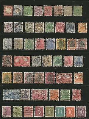 Nice large lot MH/used Germany (4 scans) 1800's-1930's inc. BOB-ofcs abroad