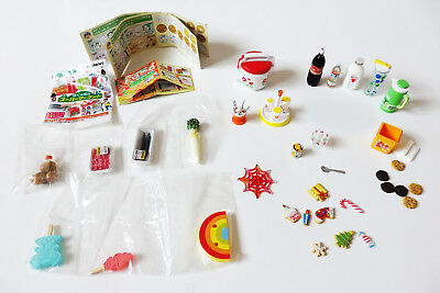 Re-ment Mix Lot Food Rice Cooker Cookies Jar Milk Water Candy Coke Retired RARE