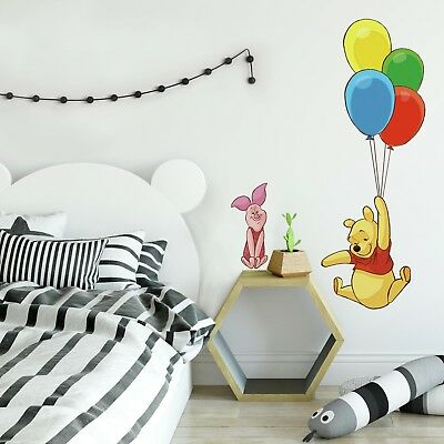 Disney Winnie The Pooh Giant Wall Decals Mural Piglet Nursery Room Decor Sticker