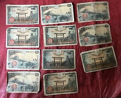 Vintage Japanese Paper War Money