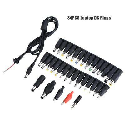 44Pcs For PC Laptop Universal DC Fine Power Adapter Plug Charger Tips Tool Kits