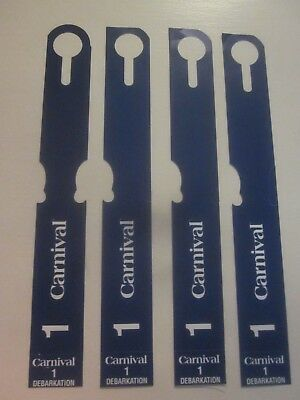 NEW (4) ZONE 1 - Carnival Cruise Line DEBARKATION LUGGAGE TAGS