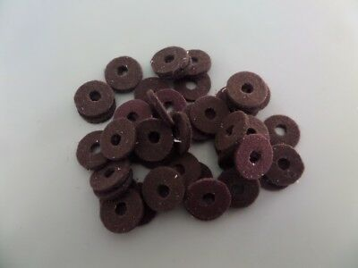 Radio knob felts  in brown x 50  size 25/32  only 2 lots available