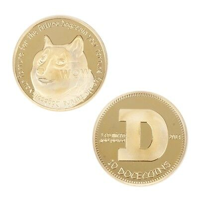 Dogecoin Dog Commemorative Coin Gold Plated Coin Your Fortune For The Future RH