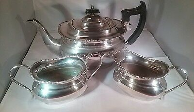 Vintage silver plated 3 piece tea set Viners Sheffield