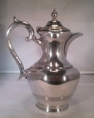 Vintage white metal  hot water/ coffee pot James Deakin & Sons Sheffield