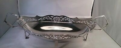 Antique silver plated fruit basket John Turton & Co Sheffield