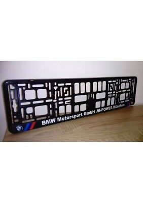 BMW MOTORSPORT M POWER 1 x Number Plate Surround Holder Frame New Cars
